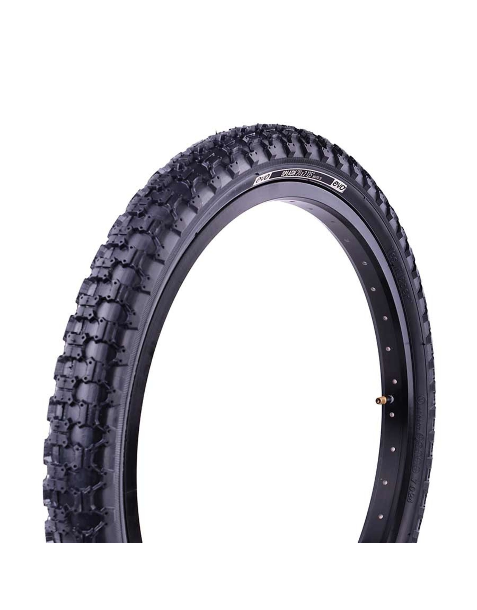 EVO EVO, Splash, Tire, 16''x1.75, Wire, Clincher, Black