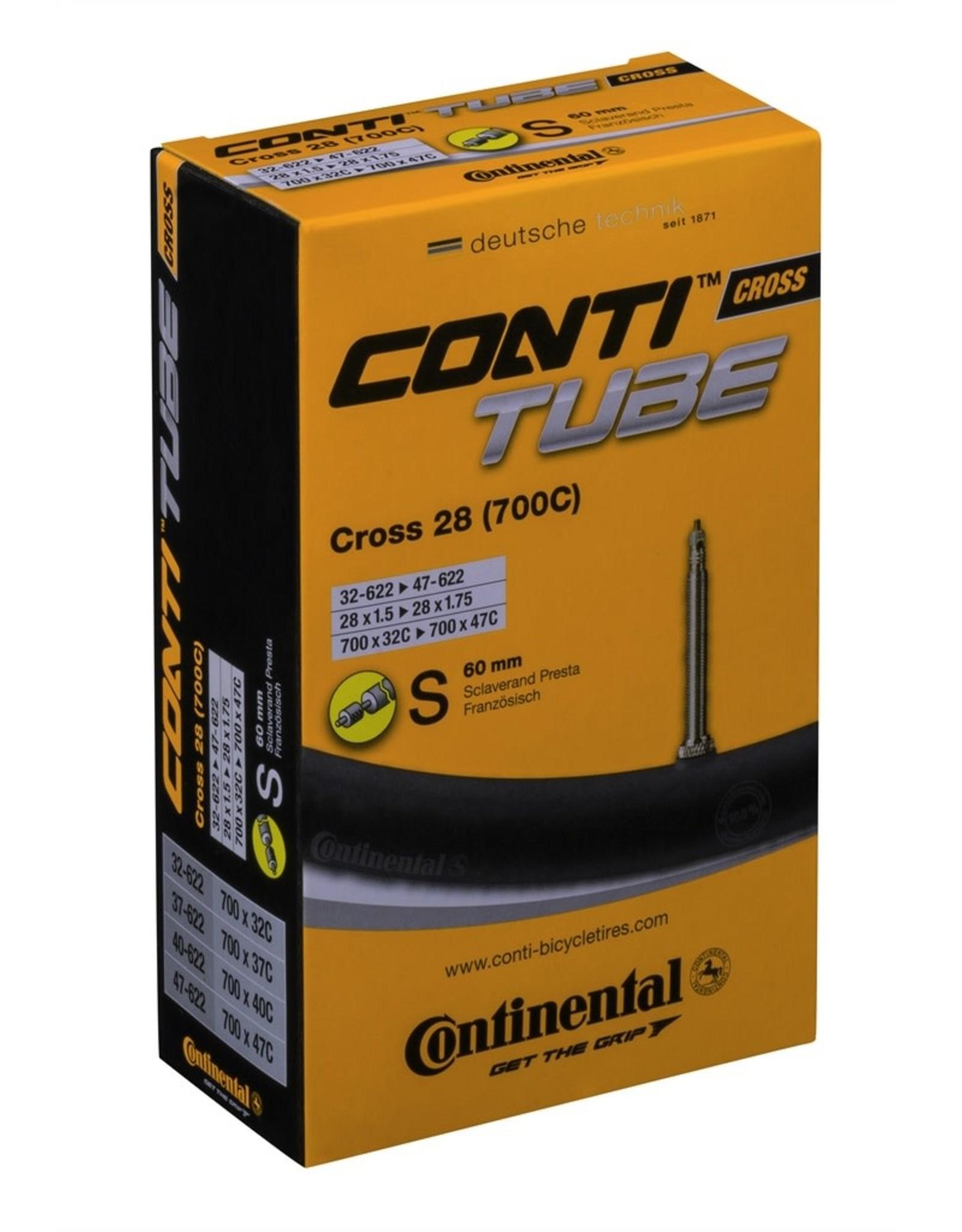 Continental CONTI, Tube, 700x25-32, Presta, 60mm, Race Wide