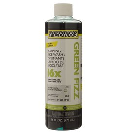 Pedros Pedros, Green Fizz 16X, Concentrated bike wash, 16oz/ 475ml