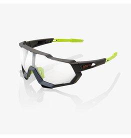 100% 100%, Speedtrap Sunglasses, Soft Tact Cool Grey w/ Photochromic Lens