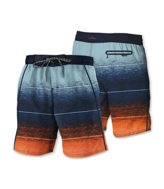 POINT ZERO Printed Signature Board Short Ocean