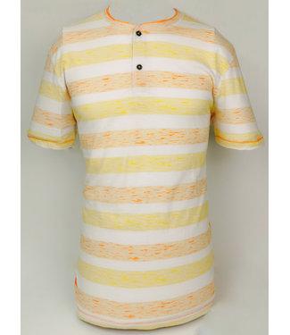 POINT ZERO V-Neck Heathered Stripe T-Shirt