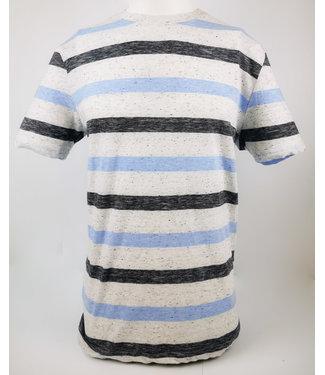 POINT ZERO Crew Neck Stripe T-Shirt