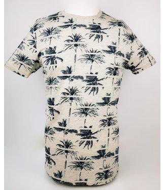 POINT ZERO Green Palm Print T-Shirt