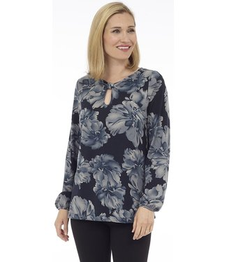 DKR Apparel Long Sleeve Top wit Bow detail at Front Neck