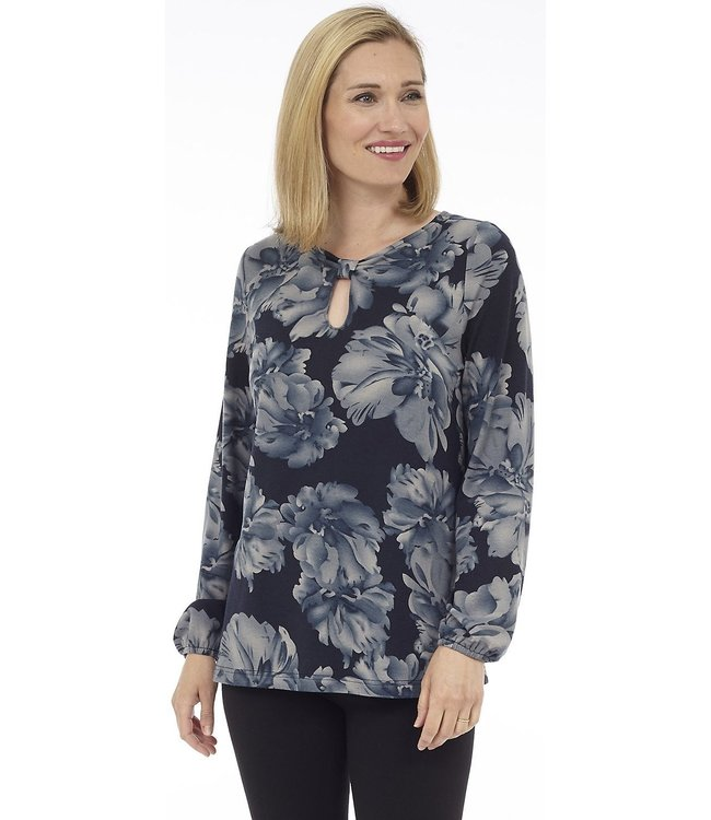 Long Sleeve Top wit Bow detail at Front Neck