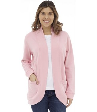 DKR Apparel Long Sleeve Scoop Back Open Cardigan with Pockets