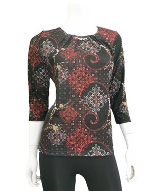 Nu Look Fashions 3/4 Sleeve Top with Rhinestone Detail