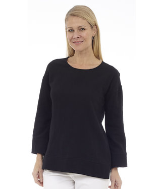 DKR Apparel Long Sleeve Scoop Neck Top with Cut & Sew Details
