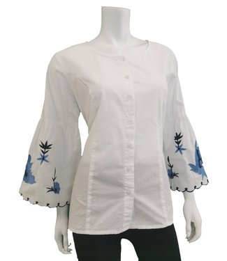 Nu Look Fashions Embroidered Sleeve Blouse