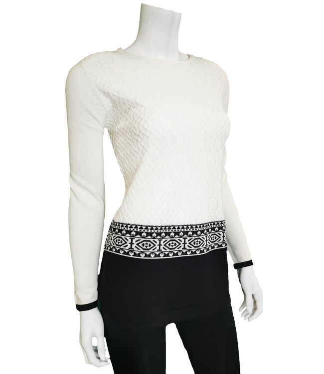 Sweater with black block detail