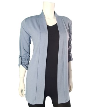DKR Apparel Roll-Up Long Sleeve Open Cardigan with Pockets