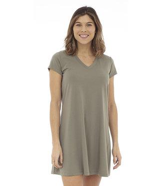DKR Apparel Short Sleeve V-Neck Dress