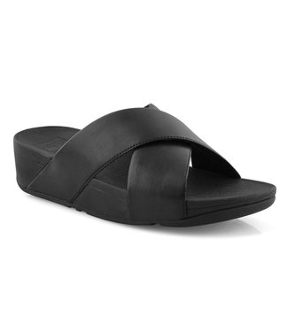 FIT FLOP LULU CROSS SLIDE BLACK