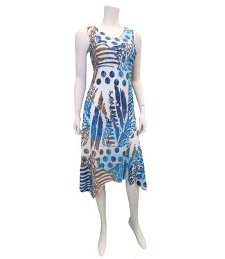 Nu Look Fashions Aqua Multi-Colour Sun Dress