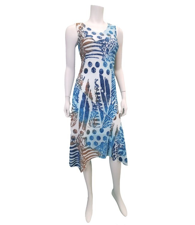 Aqua Multi-Colour Sun Dress