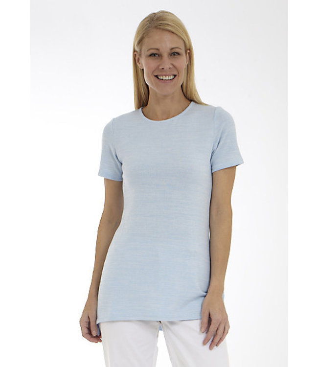 Short Sleeve Crew Neck Top with Side Slits