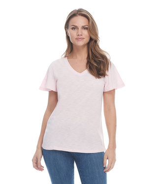 FDJ FRENCH DRESSING SHORT FLARE SLEEVE TOP