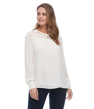 FDJ FRENCH DRESSING LACE TRIM BLOUSE
