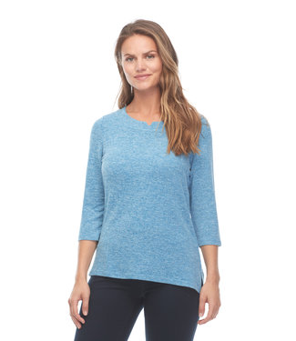 FDJ FRENCH DRESSING NOTCHED BOATNECK TOP