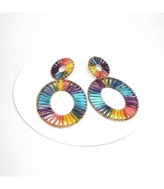 KENNETH BELL Double Rainbow Earring