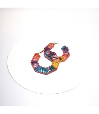 KENNETH BELL Rainbow Septagon Earring