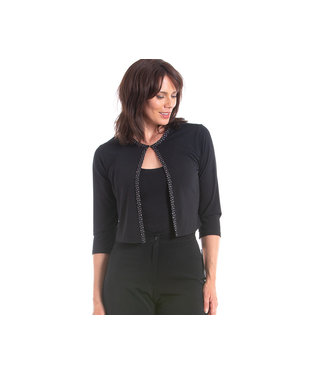 Nu Look Fashions Cropped Bolero w/Silver Edge