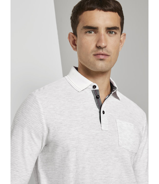 POLO WITH STRUCTURED STRIPE