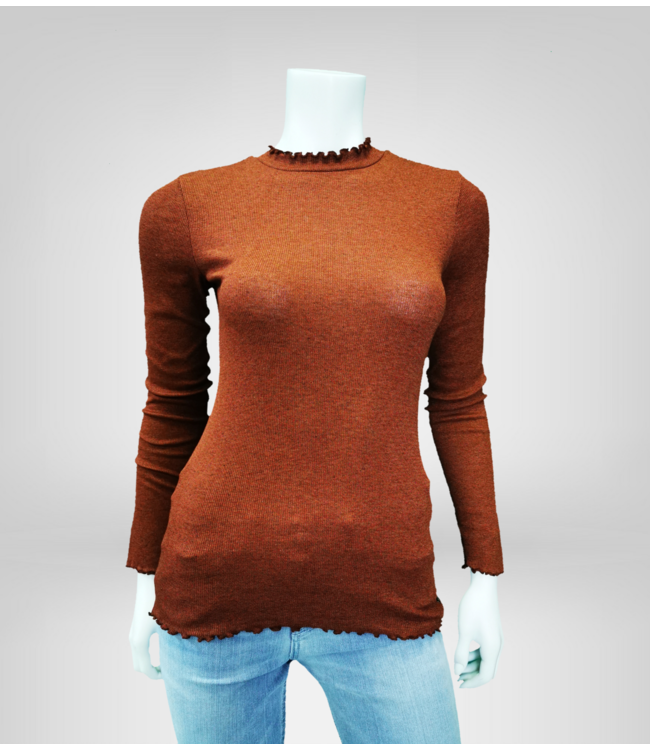 LONG SLEEVE WITH FRILLED EDGES