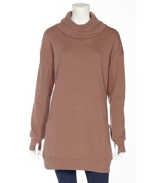 DKR Apparel COWL NECK TUNIC TOP