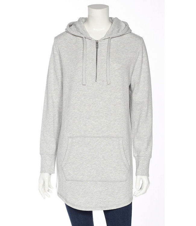 ZIP HOODED SWEAT DRESS