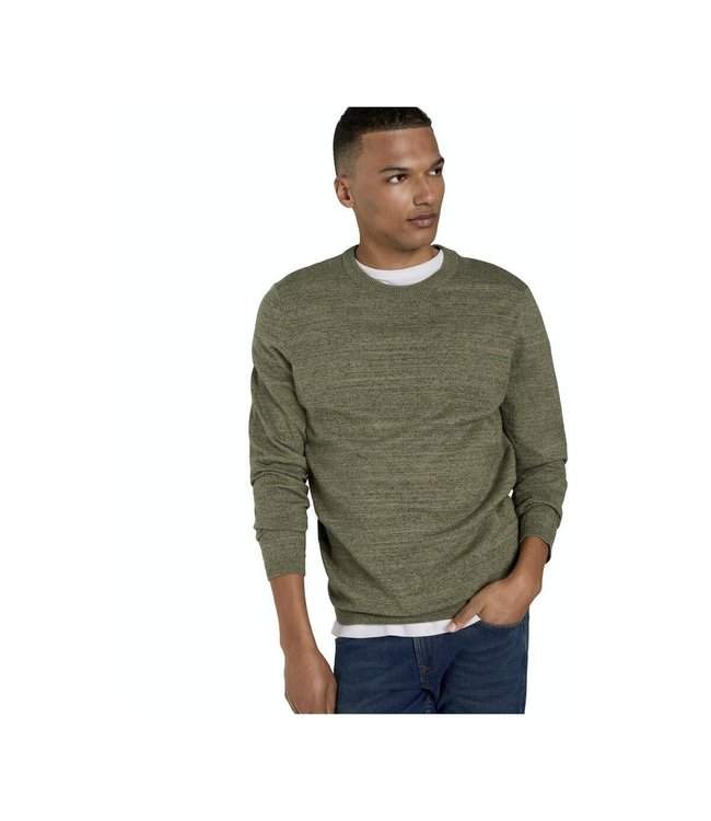CREW Neck Sweater with RIB DETAIL