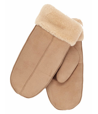DKR Apparel MITTENS W/FAUX FUR TRIM & LINING