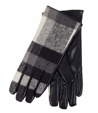 DKR Apparel PLAID GLOVES W/ FAUX FUR LINING