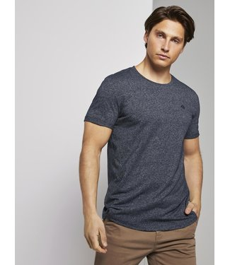 TOM TAILOR STRUCTURED T SHIRT WITH PRINT