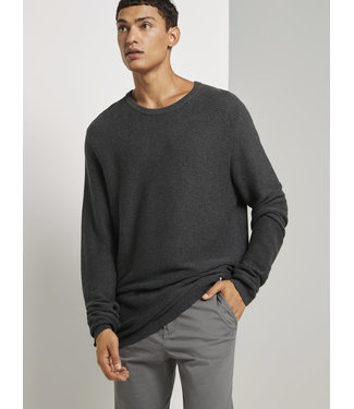 TOM TAILOR LEFT RIGHT STRUCTURE CREWNECK