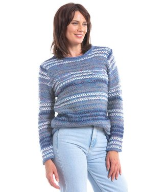 Nu Look Fashions BLUE MULTI COLOURED SWEATER