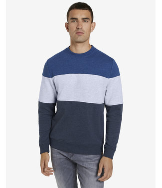 TOM TAILOR MELANGE STRIPE SWEATER