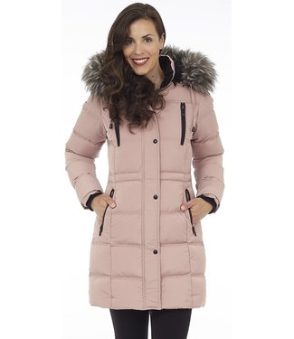 DKR Apparel Puffer Coat with Removable Faux Fur and Detachable Hood