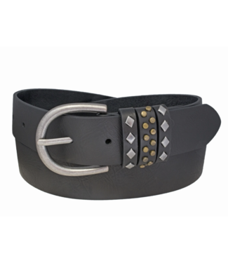 SILVER JEANS GENUINE LEATHER BELT WITH KEEPER DETAIL
