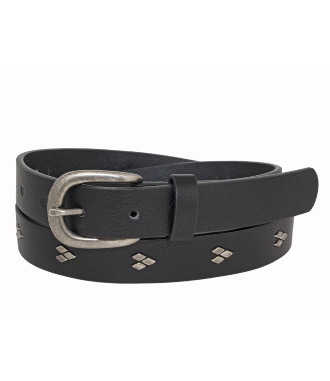 GENUINE LEATHER BELT WITH STRAP DETAIL