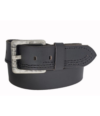 SILVER JEANS GENUINE LEATHER STITCHED BELT
