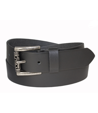 SILVER JEANS GENUINE LEATHER BELT WITH ROLLER BUCKLE