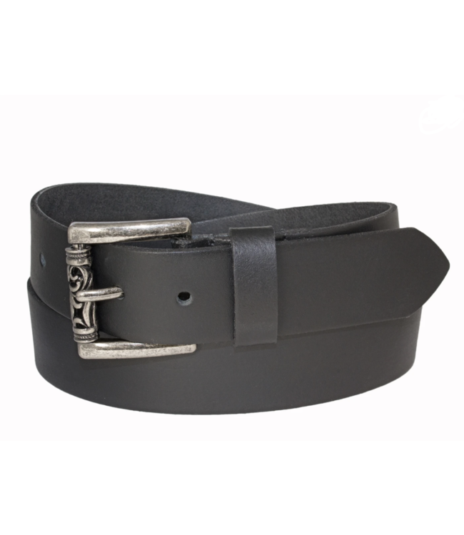 GENUINE LEATHER BELT WITH ROLLER BUCKLE