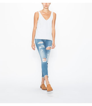 SILVER JEANS BLEECKER MID RISE CROPPED JEGGING