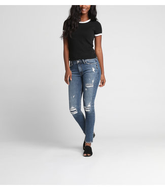 SILVER JEANS BLEECKER MID RISE JEGGING