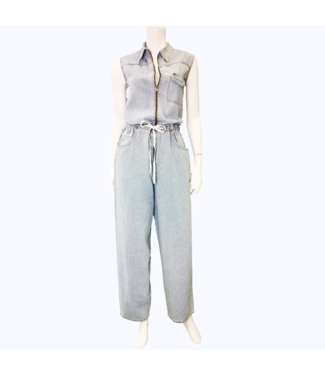 VINTAGE HOLLYWOOD DENIM JUMSUIT