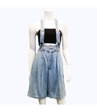 VINTAGE HOLLYWOOD DENIM SHORT OVERALLS