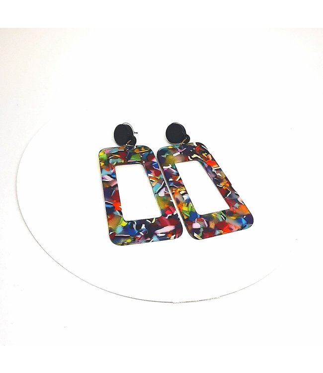 Colourful Tortoise Shell Earring
