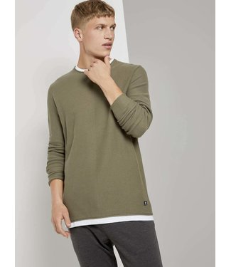 TOM TAILOR Structure Knit Light Weight Sweater